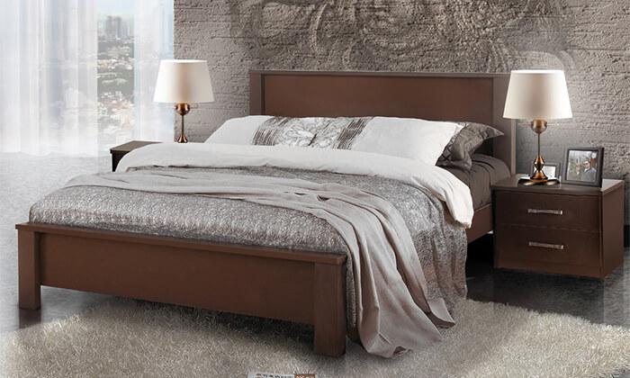 2 מיטת עץ זוגית