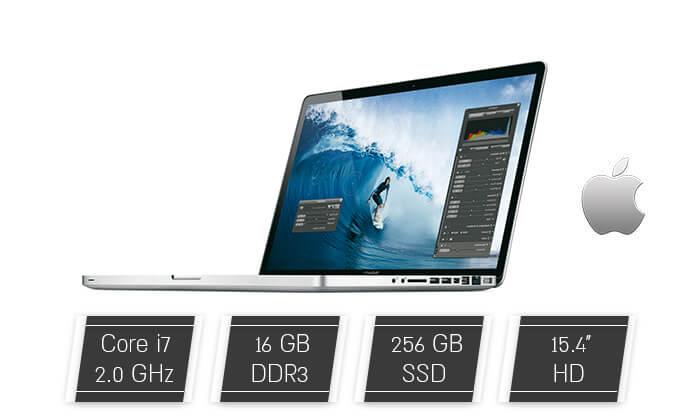 2 מחשב נייד Apple MacBook עם מסך 15.4 אינץ'
