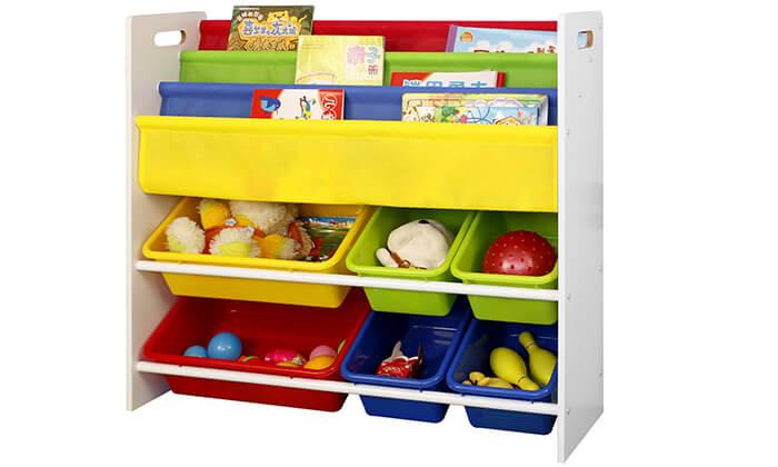 6 ארגונית צעצועים וספרים לילדים