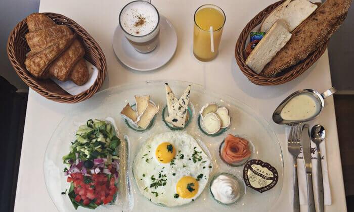 7 ארוחת בוקר 1+1, מסעדת לה מולין דורי הכשרה בירושלים