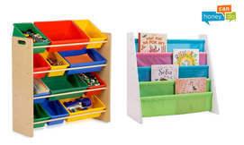 ארגונית צעצועים לחדר הילדים