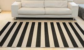 שטיח בעיצוב גיאומטרי לסלון