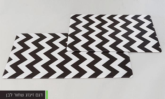6 זוג שטיחוני PVC מעוצבים - משלוח חינם