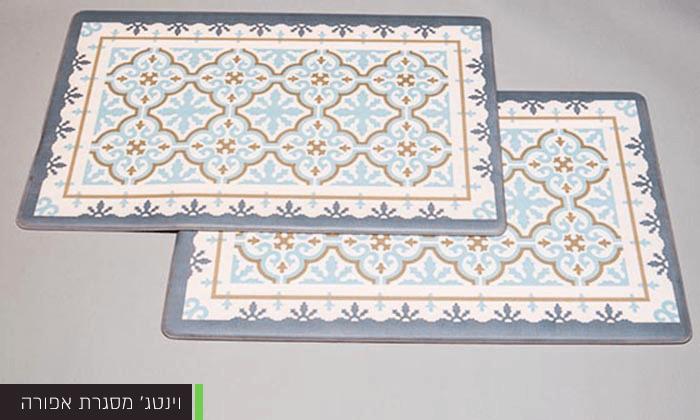 10 זוג שטיחוני PVC מעוצבים - משלוח חינם
