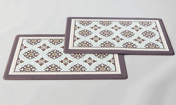 2 זוג שטיחוני PVC מעוצבים - משלוח חינם