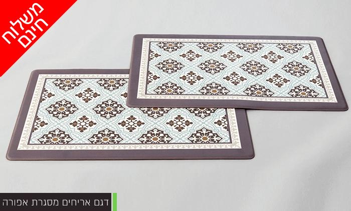 12 זוג שטיחוני PVC מעוצבים - משלוח חינם!