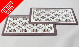 זוג שטיחוני PVC מעוצבים