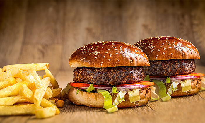 2 ארוחת המבורגר זוגית במסעדת הקציצה, נס ציונה