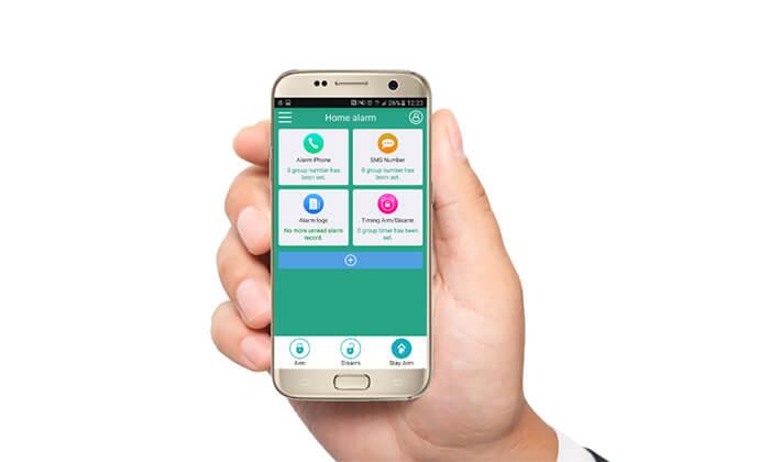 4 מערכת אזעקה אלחוטית WIFI הכולל גיבוי SIM-Card