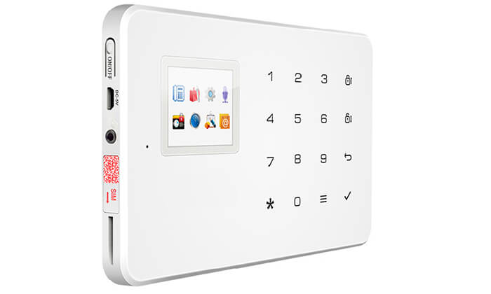 5 מערכת אזעקה אלחוטית WIFI הכולל גיבוי SIM-Card
