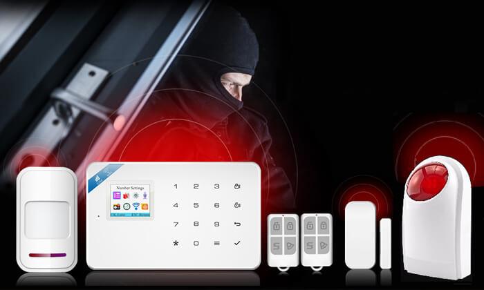 2 מערכת אזעקה אלחוטית WIFI הכולל גיבוי SIM-Card