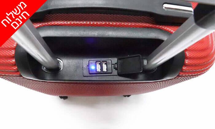 3 סט 3 מזוודות טרולי קשיחות וקלות משקל - משלוח חינם!