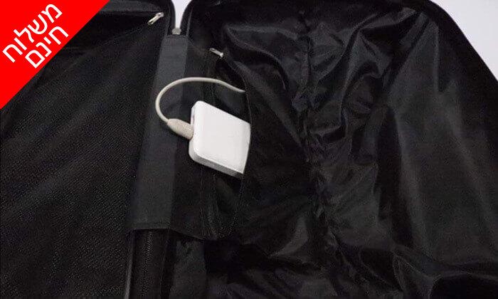 7 סט 3 מזוודות טרולי קשיחות וקלות משקל - משלוח חינם!