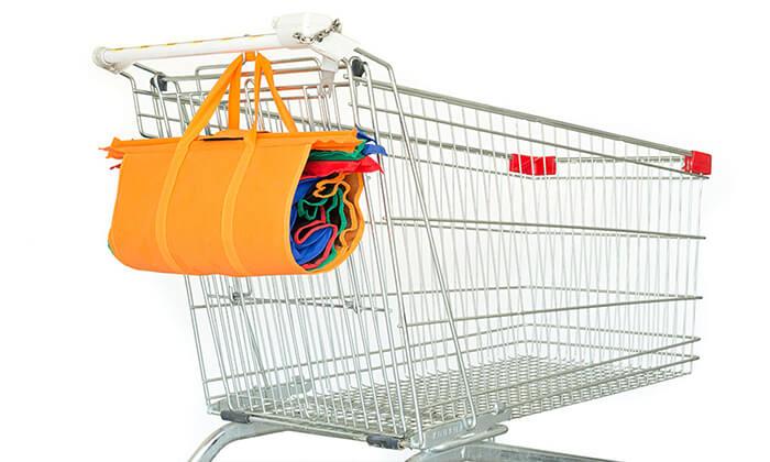3 4 סלי קניות לארגון מוצרים בעגלת הסופר