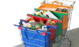 סלי קניות לארגון מוצרים בעגלה