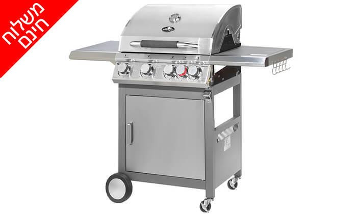 2 גריל גז 4 מבערים Australia Chef - משלוח חינם!