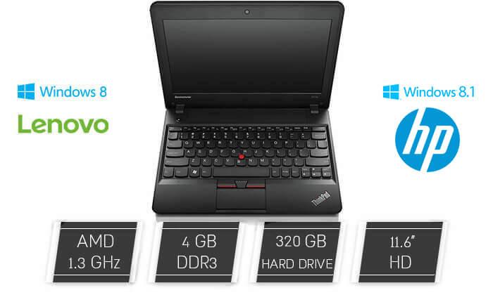 2 מחשב נייד Lenovo עם מסך 11.6 אינץ'