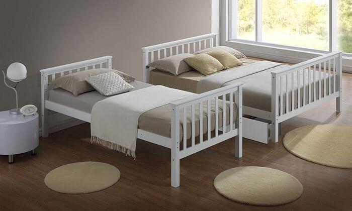 3 מיטת קומותיים מעץ מלא BRADEX
