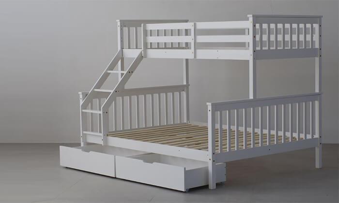 5 מיטת קומותיים מעץ מלא BRADEX