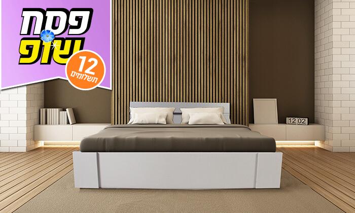 4 מיטה זוגית ומזרן תואם