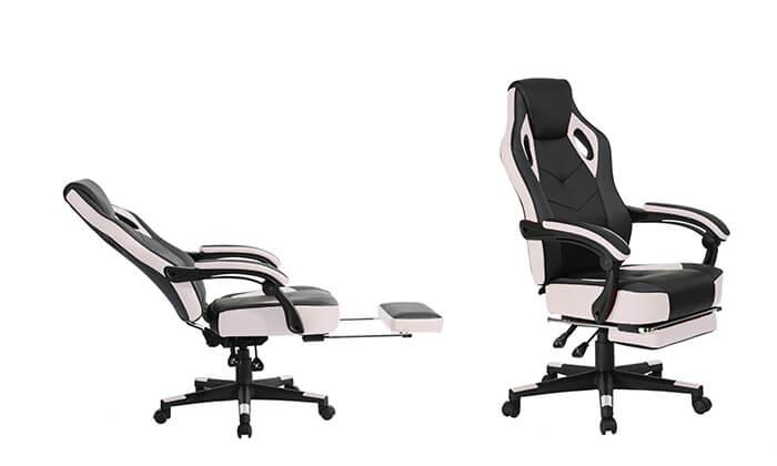 5 כסא גיימרים מתכוונן עם הדום נשלף