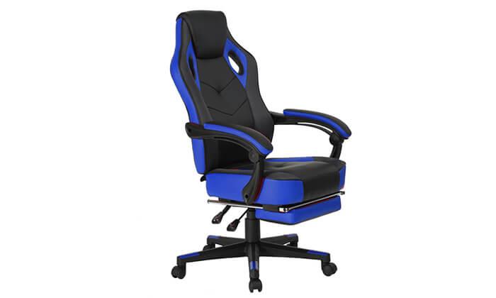 7 כסא גיימרים מתכוונן עם הדום נשלף