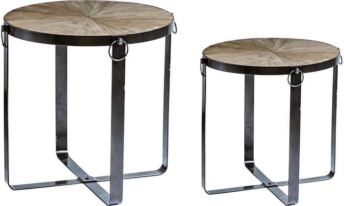 2 שולחן עגול דקורטיבי