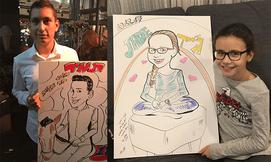 ציור קריקטורות לאירועים