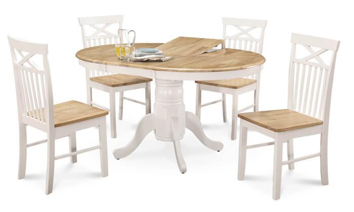 מיוחדים שמרת הזורע: פינת אוכל עגולה עם 4 כסאות | גרו (גרופון) WE-25
