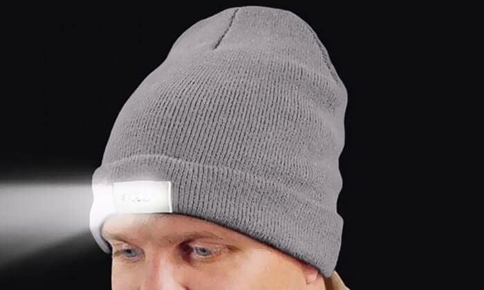 2 כובע גרב משולב פנס ראש