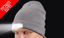 כובע גרב משולב פנס ראש