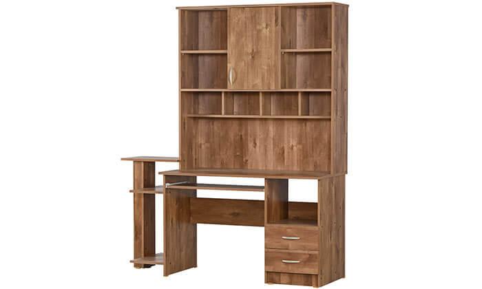 3 רהיטי יראון - שולחן עבודה עם ספריה
