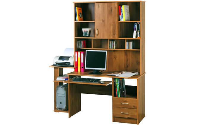 2 רהיטי יראון - שולחן עבודה עם ספריה