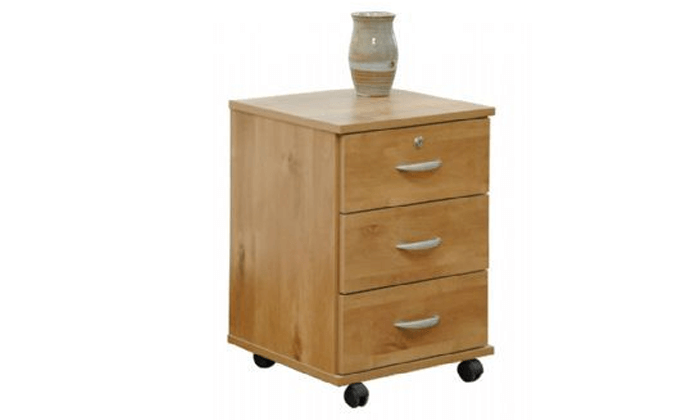 2 רהיטי יראון - שידת 3 מגירות על גלגלים