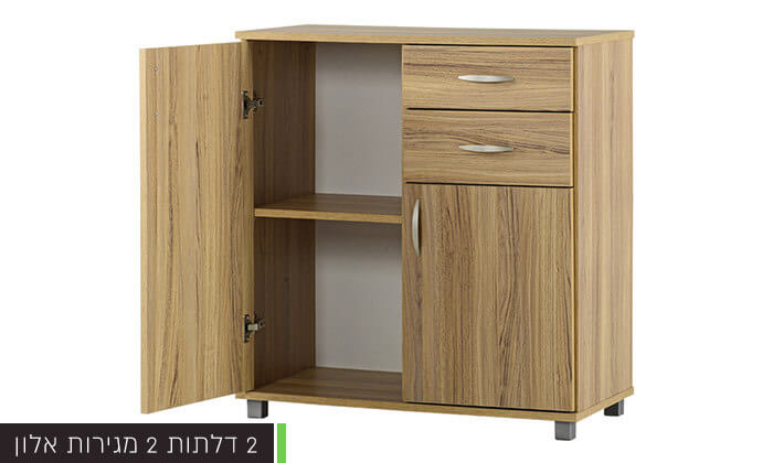 4 רהיטי יראון - שידה 2 דלתות