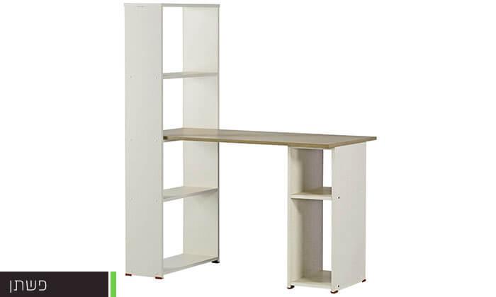3 רהיטי יראון - שולחן כתיבה עם ספריה