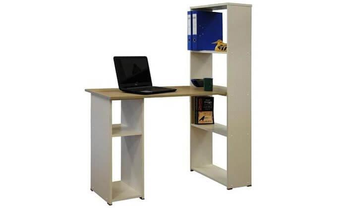 6 רהיטי יראון - שולחן כתיבה עם ספריה