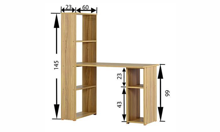 5 רהיטי יראון - שולחן כתיבה עם ספריה