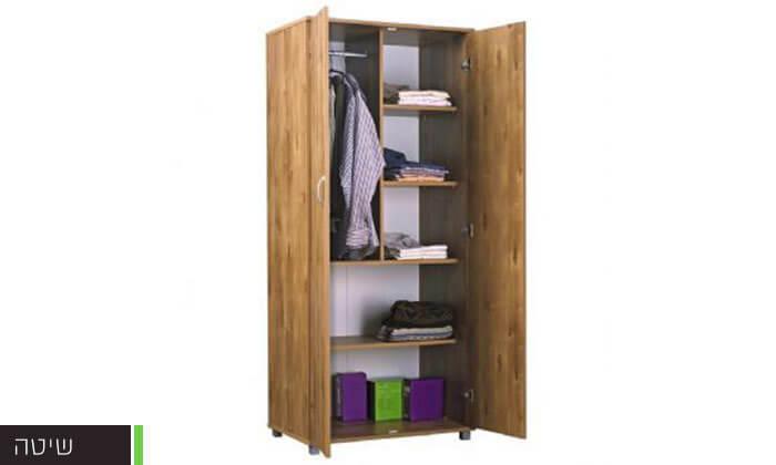 4 רהיטי יראון: ארון בגדים 2 דלתות על רגליים
