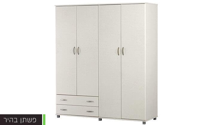 ברצינות רהיטי יראון - ארון בגדים 4 דלתות | גרו (גרופון) GC-25