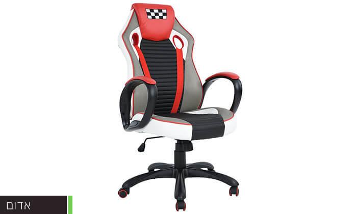 4 כסא בעיצוב מכונית מירוץ