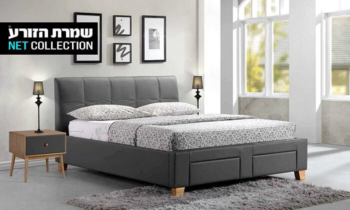 כולם חדשים שמרת הזורע: מיטה זוגית מרופדת עם מגירת אחסון | גרו (גרופון) YZ-64