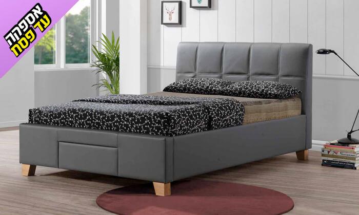 10 שמרת הזורע: מיטה זוגית מרופדת עם מגירת אחסון