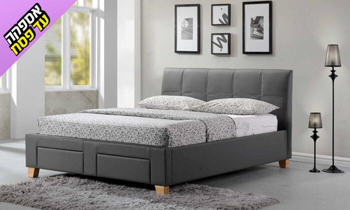 8 שמרת הזורע: מיטה זוגית מרופדת עם מגירת אחסון