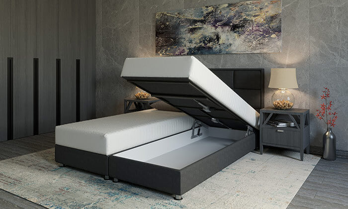 4 מיטה זוגית אורטופדית מתכווננתRAM DESIGN
