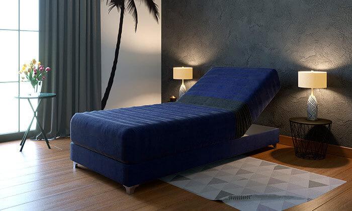 3 מיטת יחיד אורתופדית עם ראש מתכוונן RAM DESIGN, דגם דקס