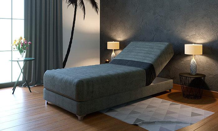 4 מיטת יחיד אורתופדית עם ראש מתכוונן RAM DESIGN, דגם דקס
