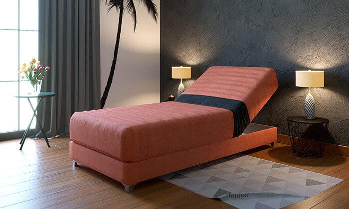 2 מיטת יחיד אורתופדית עם ראש מתכוונן RAM DESIGN, דגם דקס