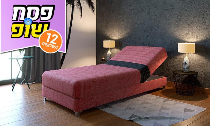4 מיטת נוער אורתופדית עם ראש מתכוונן RAM DESIGN