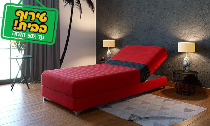 2 מיטת נוער אורתופדית עם ראש מתכוונן RAM DESIGN
